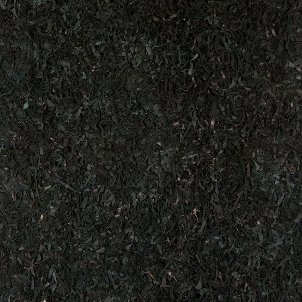 Safavieh Leather Shag Black 8 ft. x 8 ft. Square Area Rug