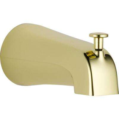 Pull-Up Diverter Tub Spout in Polished Brass