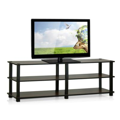 Turn-N-Tube 47 in. Dark Brown Particle Board TV Stand Fits TVs Up to 42 in. with Open Storage