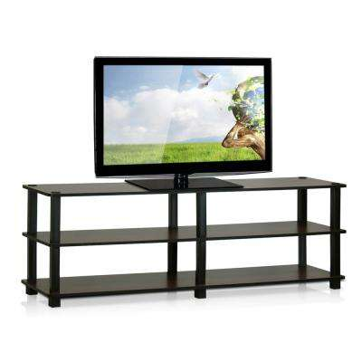 Turn-S-Tube Dark Brown 3-Shelf TV Stand