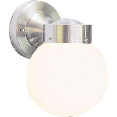 1-Light Brushed Nickel Outdoor Wall Mount