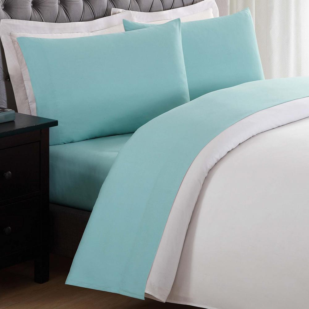 Anytime Turquoise Twin XL Sheet Set SS2017TUTX 4700   The Home Depot