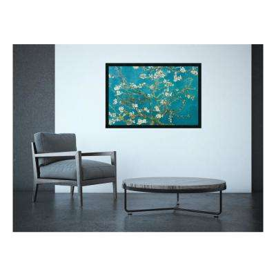 """37.5 in. W x 25.5 in. H """"Almond Branches in Bloom, San Remy, detail (ii)"""" by Vincent Van Gogh Framed Art Print"""
