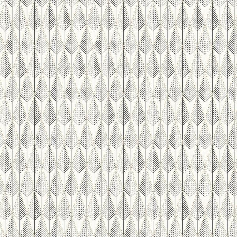 Brewster Padma Grey Geometric Texture Wallpaper Sample WV5677SAM