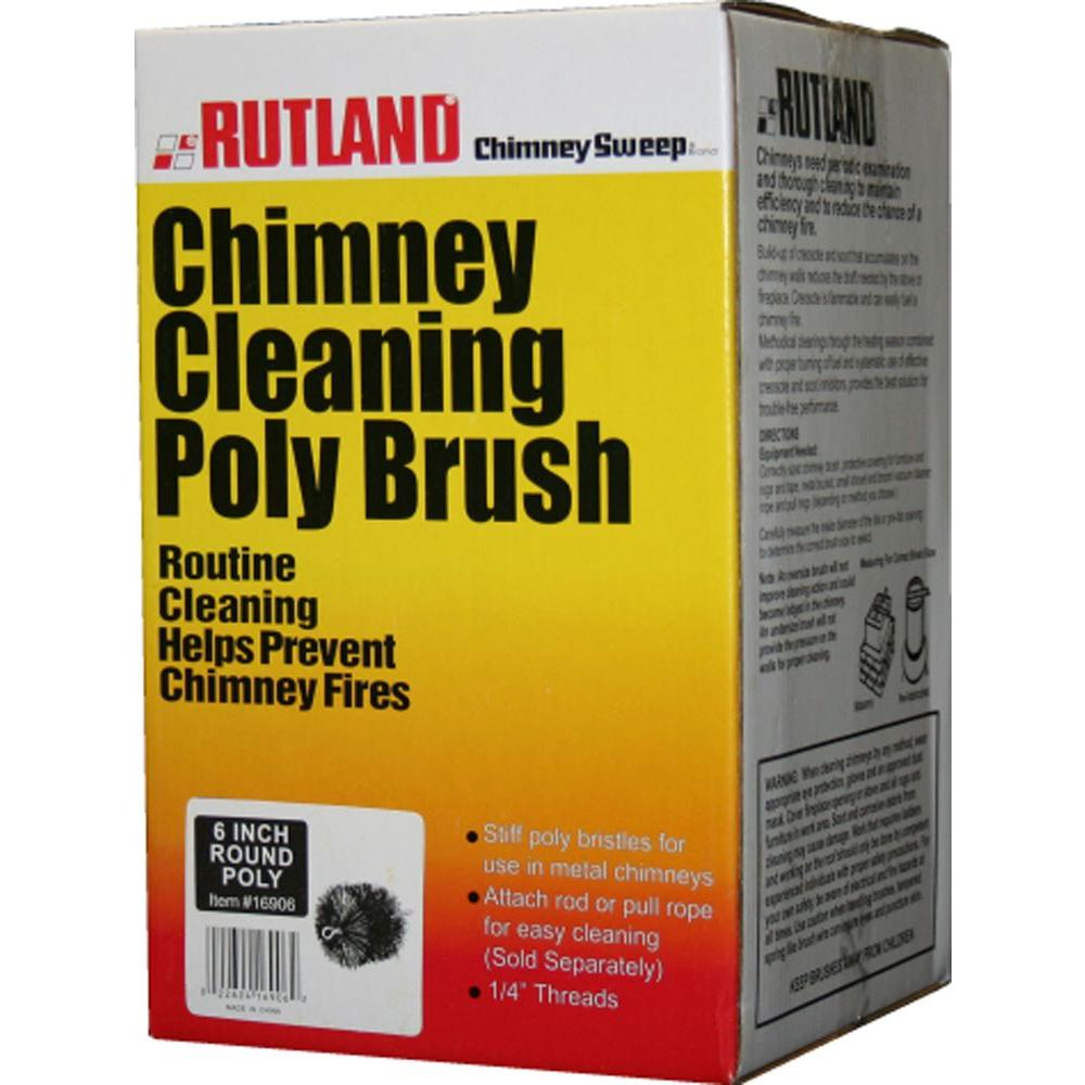Rutland 6 In Chimney Sweep Round Cleaning Poly Brush 16906 The Home Depot