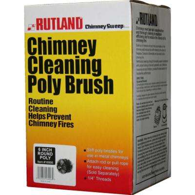 6 in. Chimney Sweep Round Cleaning Poly Brush