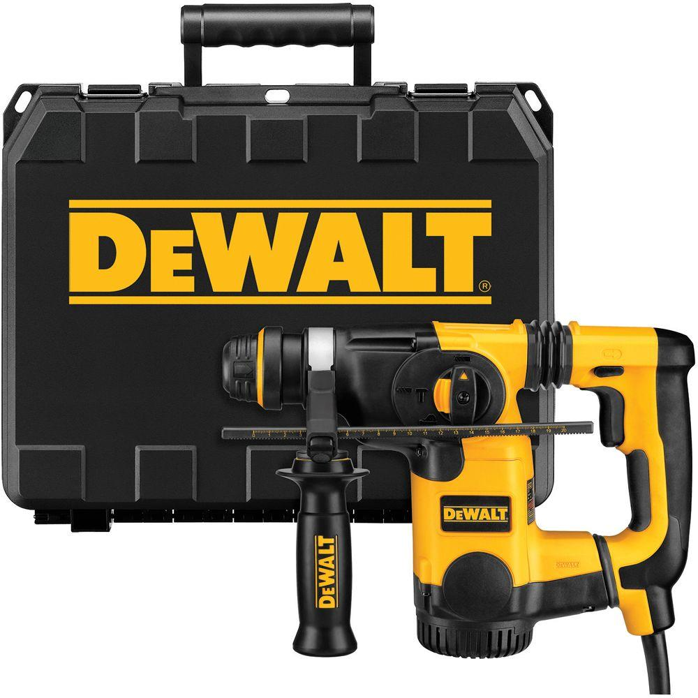 dewalt 8 amp 1 in corded sds plus l shape concrete. Black Bedroom Furniture Sets. Home Design Ideas