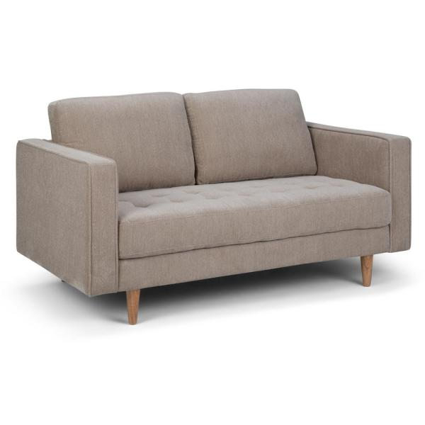 Simpli Home Blaine Contemporary 62 in. Wide Sofa Loveseat in Light ...