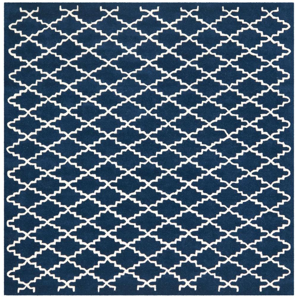 Chatham Dark Blue/Ivory 7 ft. x 7 ft. Square Area Rug