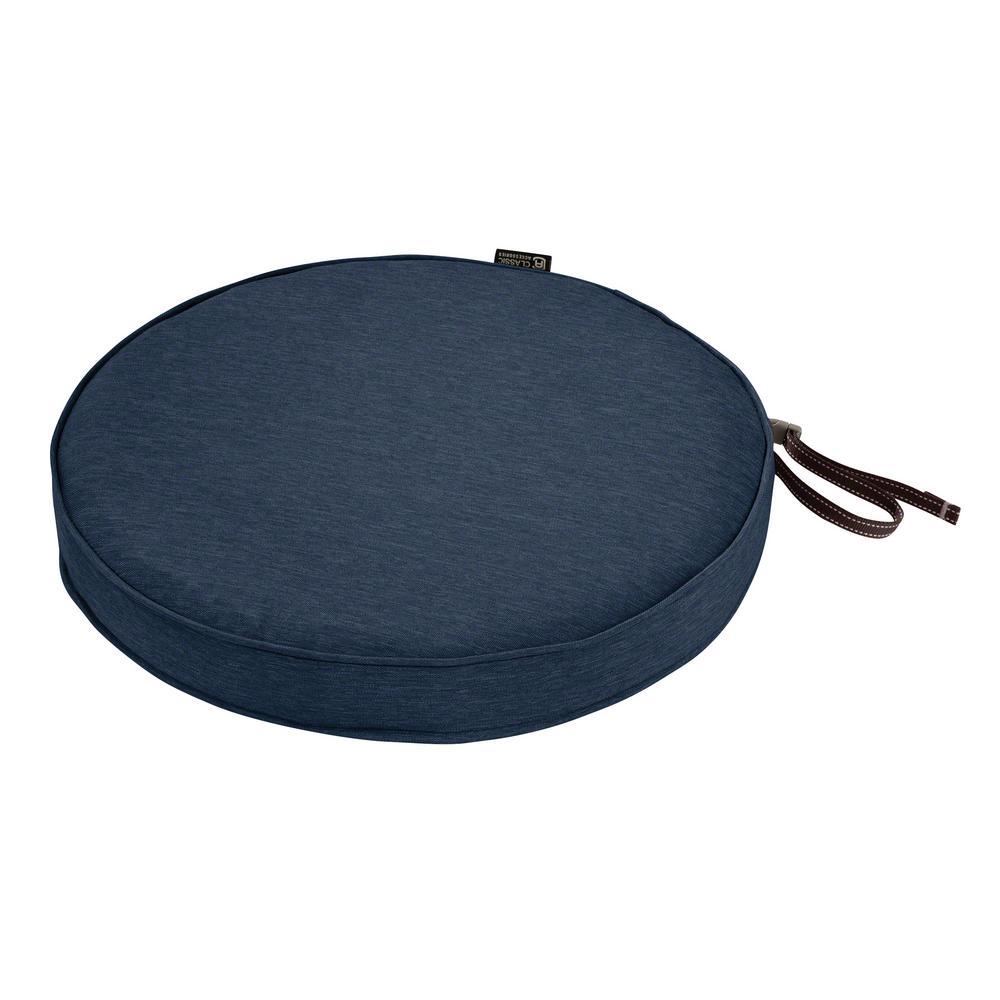 Superieur Classic Accessories Montlake Fade Safe Heather Indigo 18 In. Round Outdoor  Seat Cushion