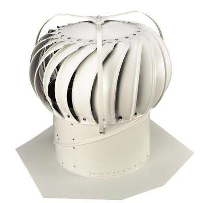 12 in. White Aluminum Externally Braced Wind Turbine