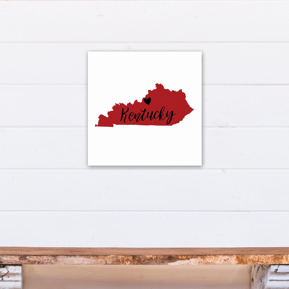 DESIGNS DIRECT 16 in. x 16 in. ''Red and Black Kentucky Pride