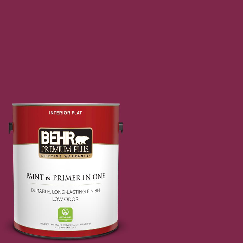 1 gal. #120D-7 Ruby Red Flat Low Odor Interior Paint and