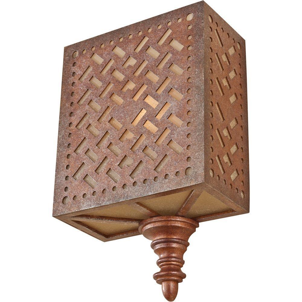 Feiss Kandira 1-Light Moroccan Bronze Wall Sconce