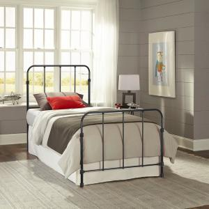 Nolan Space Black Full Kids Bed with Metal Duo Panels