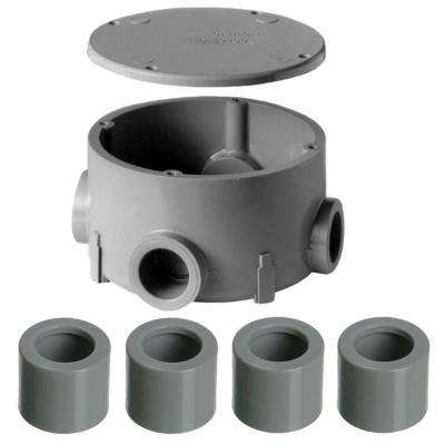 3/4 in. PVC Round Type-X Conduit Body (5 per Case)