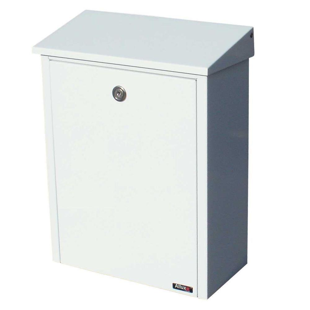 QualArc White Wall-Mount Locking Mailbox
