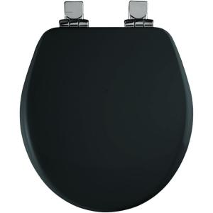 Church Round Closed Front Toilet Seat in Black by Church