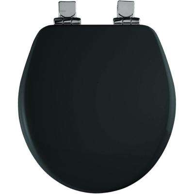 Round Closed Front Toilet Seat in Black