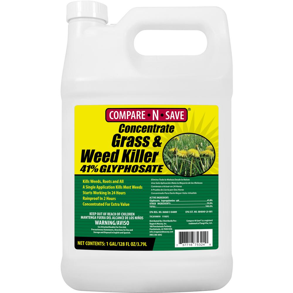 Compare-N-Save 1 Gal. Grass And Weed Killer Glyphosate Concentrate