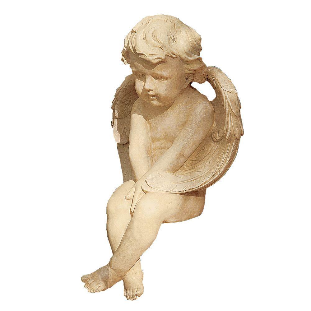 Design Toscano 13 in. Angel of Meditation Garden Statue-DISCONTINUED