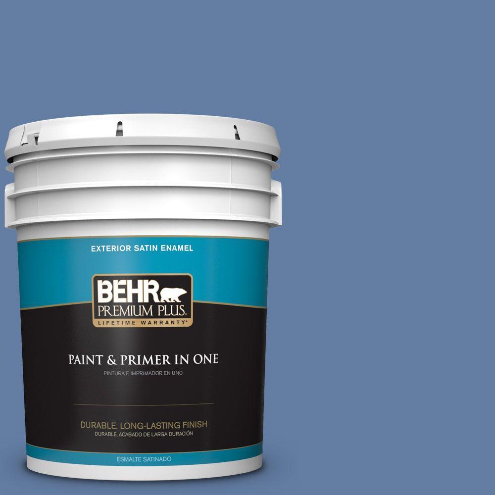 5-gal. #600D-6 Blueberry Patch Satin Enamel Exterior Paint