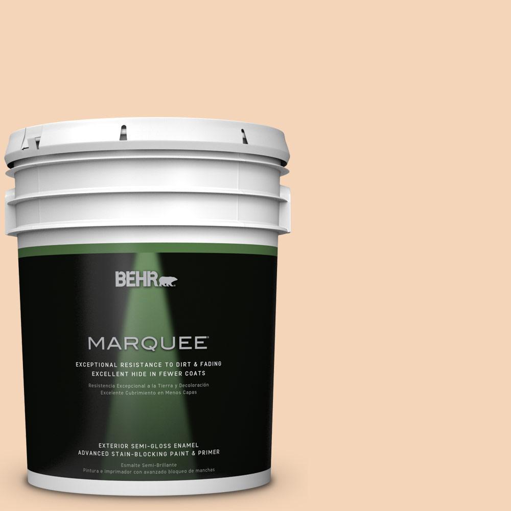 5-gal. #BXC-37 Miami Stucco Semi-Gloss Enamel Exterior Paint