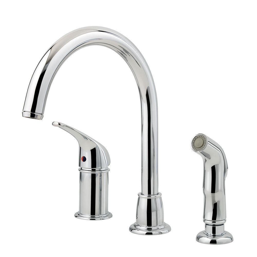 kitchen sink faucet with sprayer pfister cagney single handle standard kitchen faucet with 8485