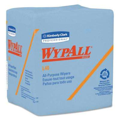 12 1/2 x 12 1/4 Fold L40 Wiper, Blue, 56/Box, 12 Boxes Per Carton