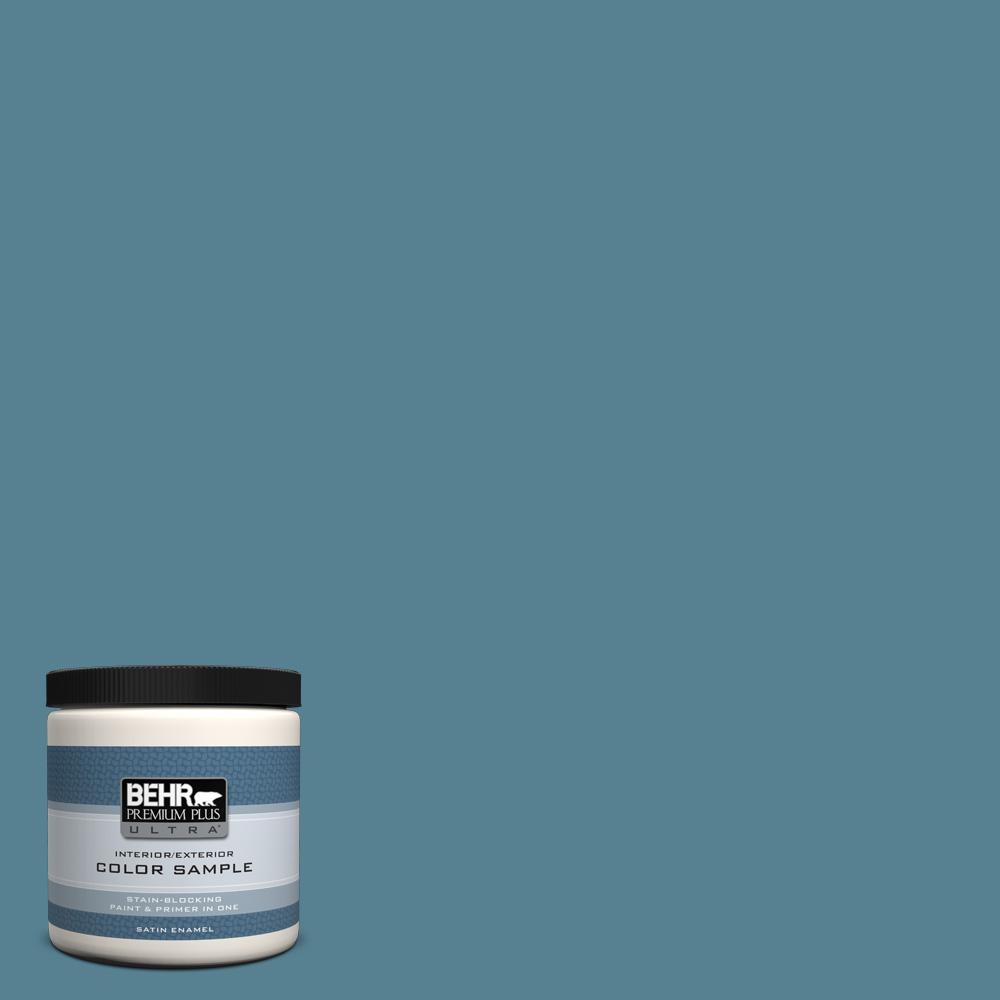 Behr premium plus ultra 8 oz s470 5 blueprint satin - Exterior primer and paint in one ...