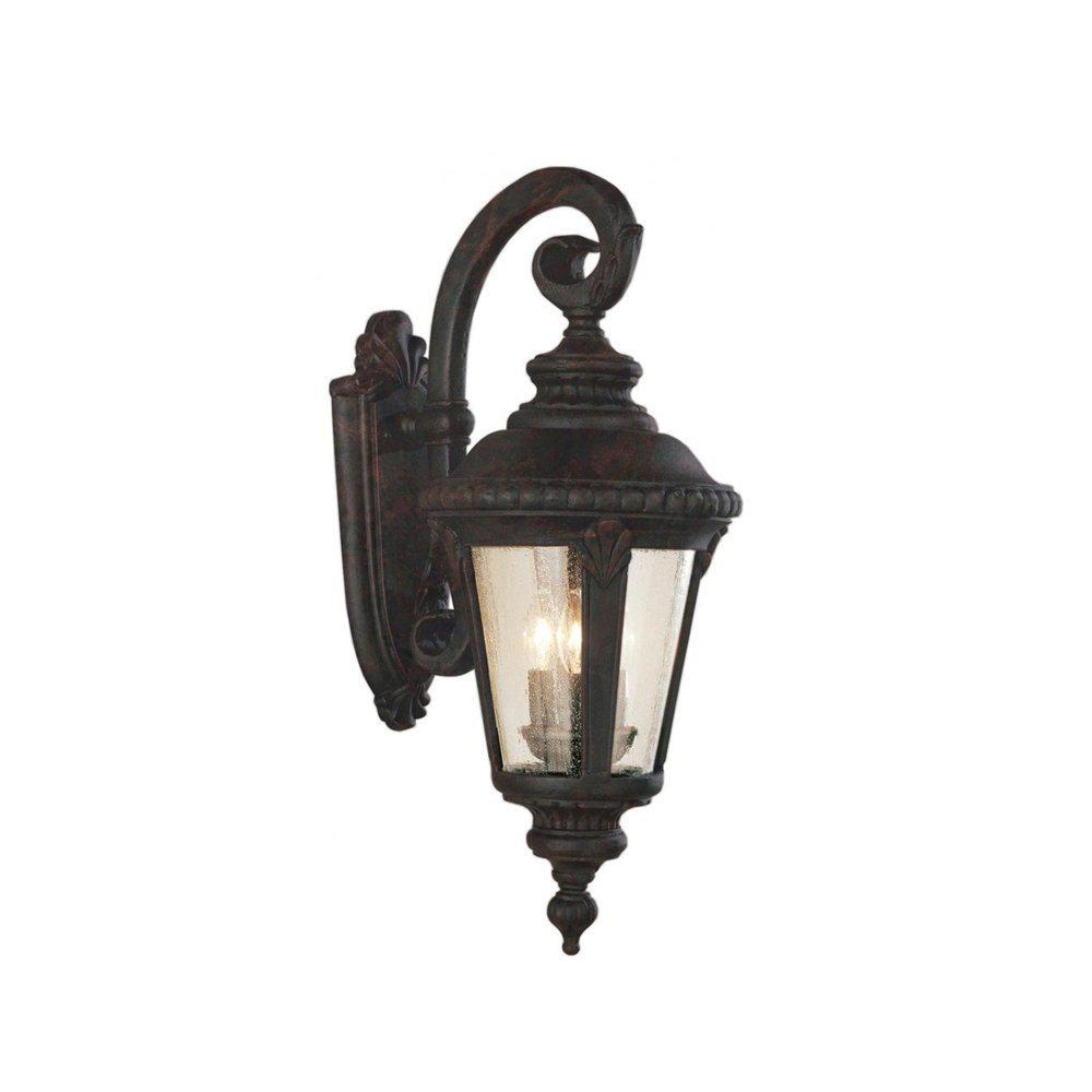 Commons 3-Light Black Copper Outdoor Wall Mount Lantern