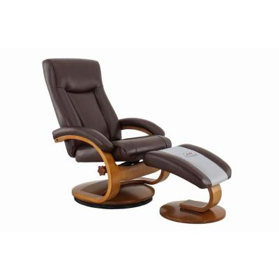Hamilton Whisky Air Leather Recliner with Ottoman