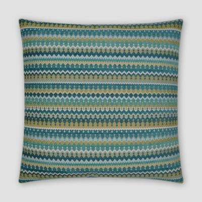 Denmark Peacock Feather Down 20 in. x 20 in. Standard Decorative Throw Pillow