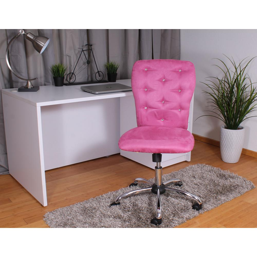 Boss Pink Microfiber Tiffany Chair