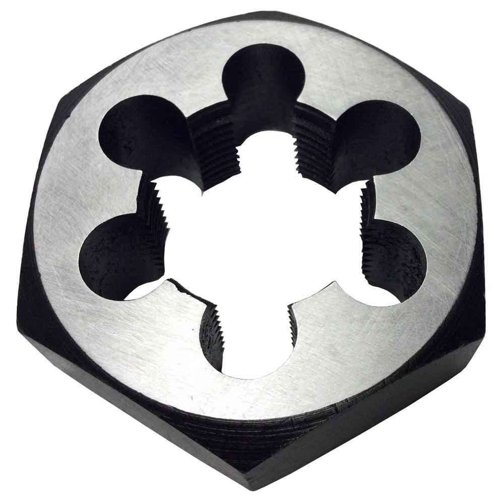 """3//4/""""-16 Carbon Steel Hex Rethreading Die DWTHX3416"""
