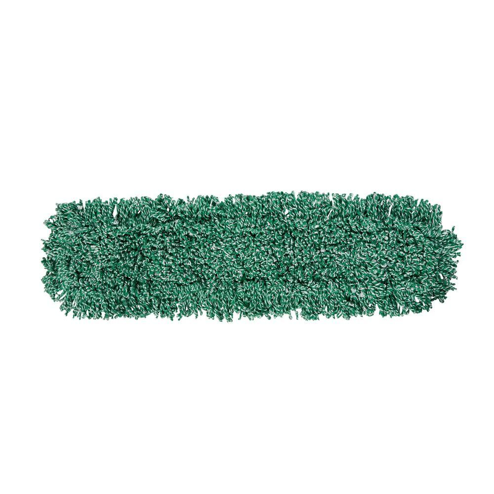 36 in. Microfiber Loop Green Dust Mop