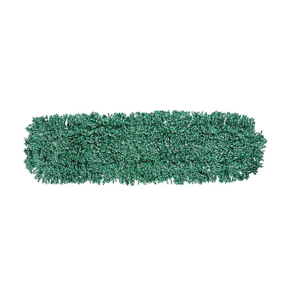 36 in. Microfiber Loop Green Dust Mop