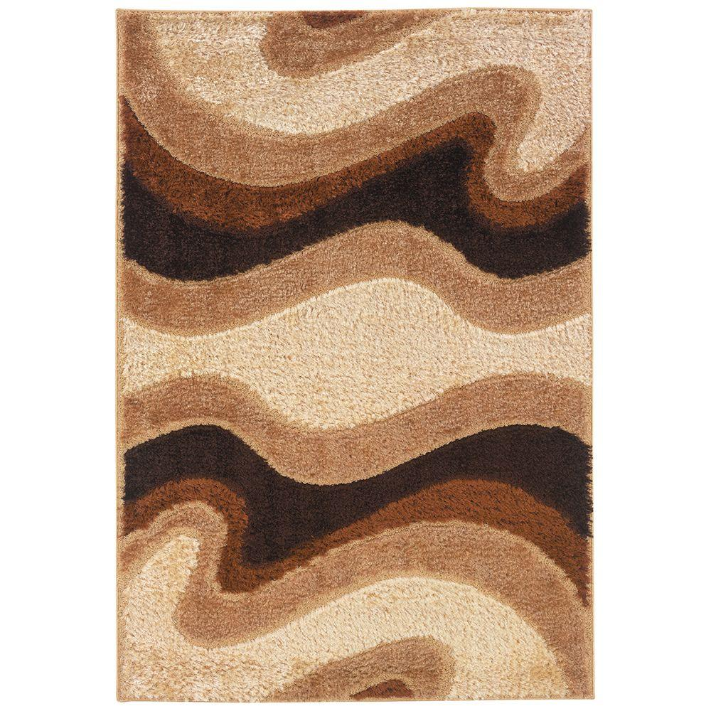 United Weavers Shimmer Ivory 5 ft. 3 in. x 7 ft. 6 in. Area Rug