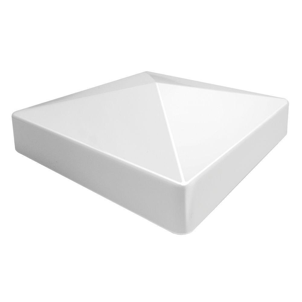 Veranda 5 in. x 5 in. Vinyl White Pyramid Post Cap