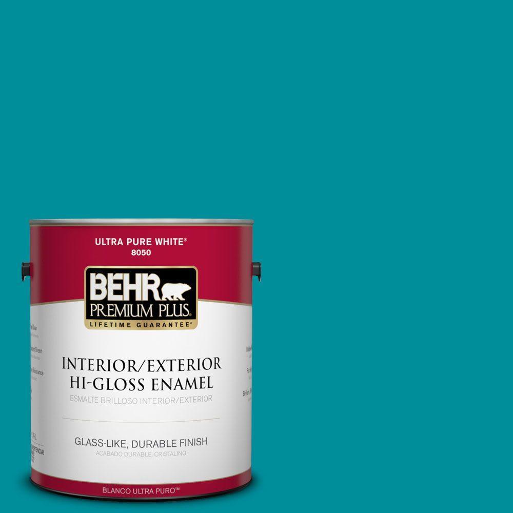 BEHR Premium Plus 1-gal. #P470-6 Bella Vista Hi-Gloss Enamel Interior/Exterior Paint