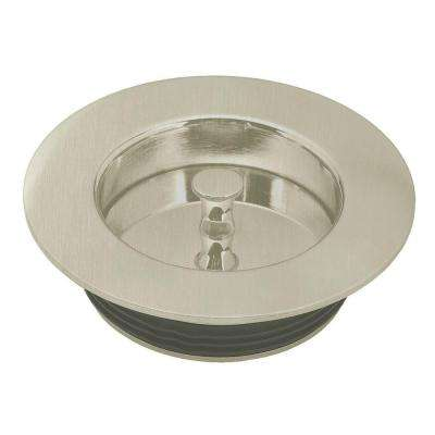 Universal Disposal Ring and Stopper in Satin Nickel
