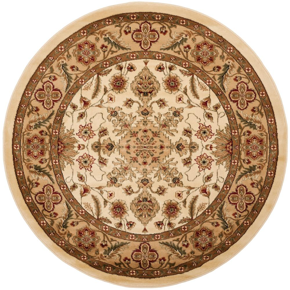 Lyndhurst Ivory/Tan 8 ft. x 8 ft. Round Area Rug