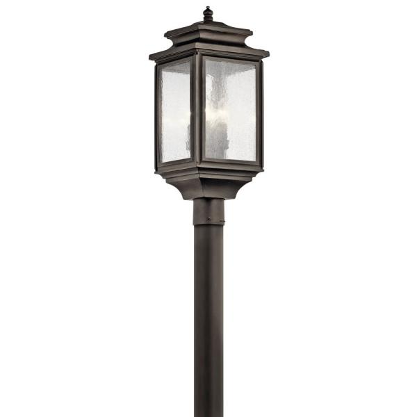 Wiscombe Park 4-Light Olde Bronze Outdoor Post Light with Clear Seeded Glass