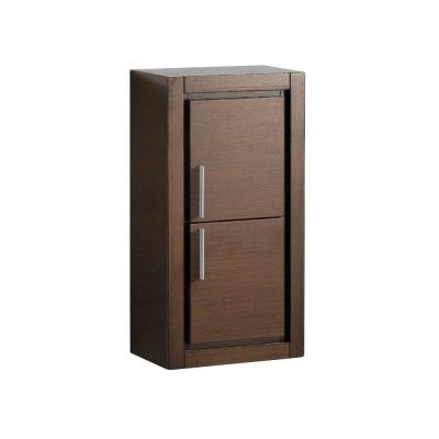 Allier 16 in. W x 30 in. H x 10 in. D Bathroom Linen Storage Cabinet in Wenge Brown