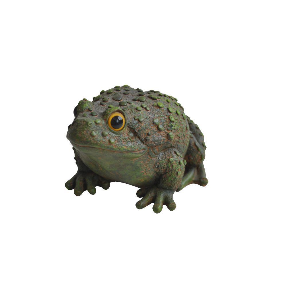 4 in. Green Frog Garden Statue