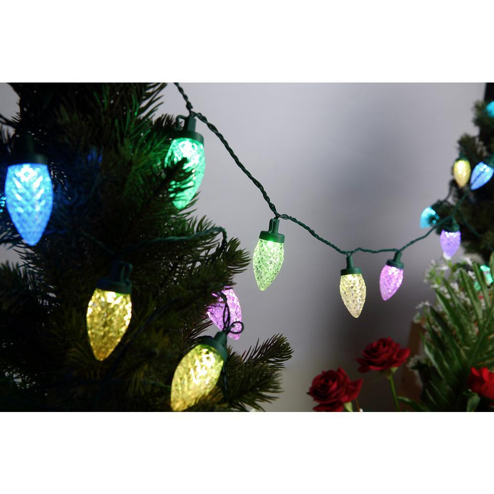 25-Light 15.4 ft Wi-Fi RGB Color-Changing LED C9 String Light Set,