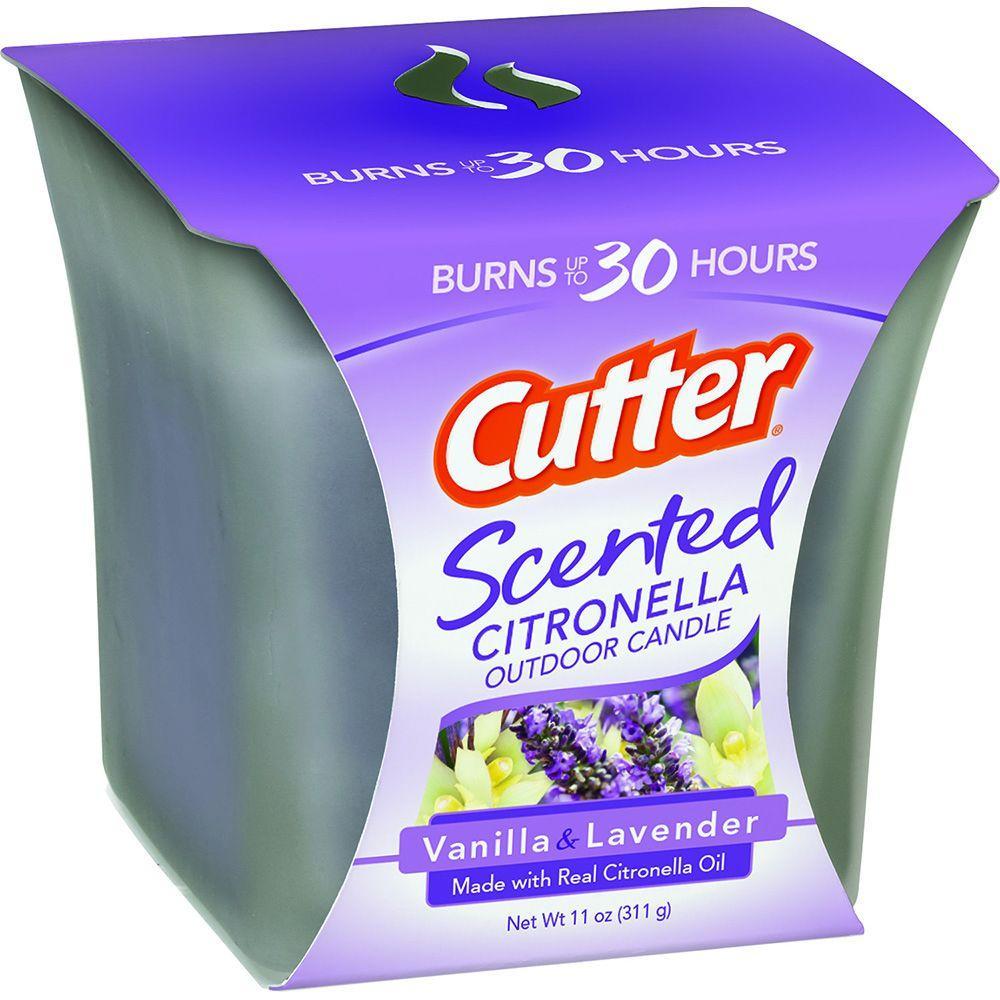Cutter Citronella Outdoor Candle 11 Oz Vanilla Lavender