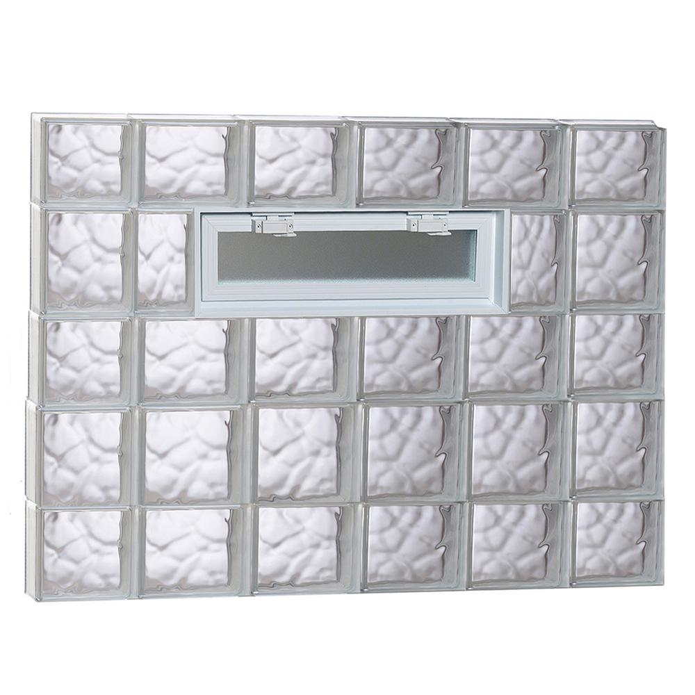 Clearly Secure 42.5 in. x 32.75 in. x 3.125 in. Frameless Wave ...