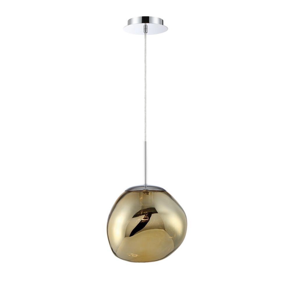 3d8d9068603 Eurofase Bankwell 1-Light Gold Pendant-34287-033 - The Home Depot