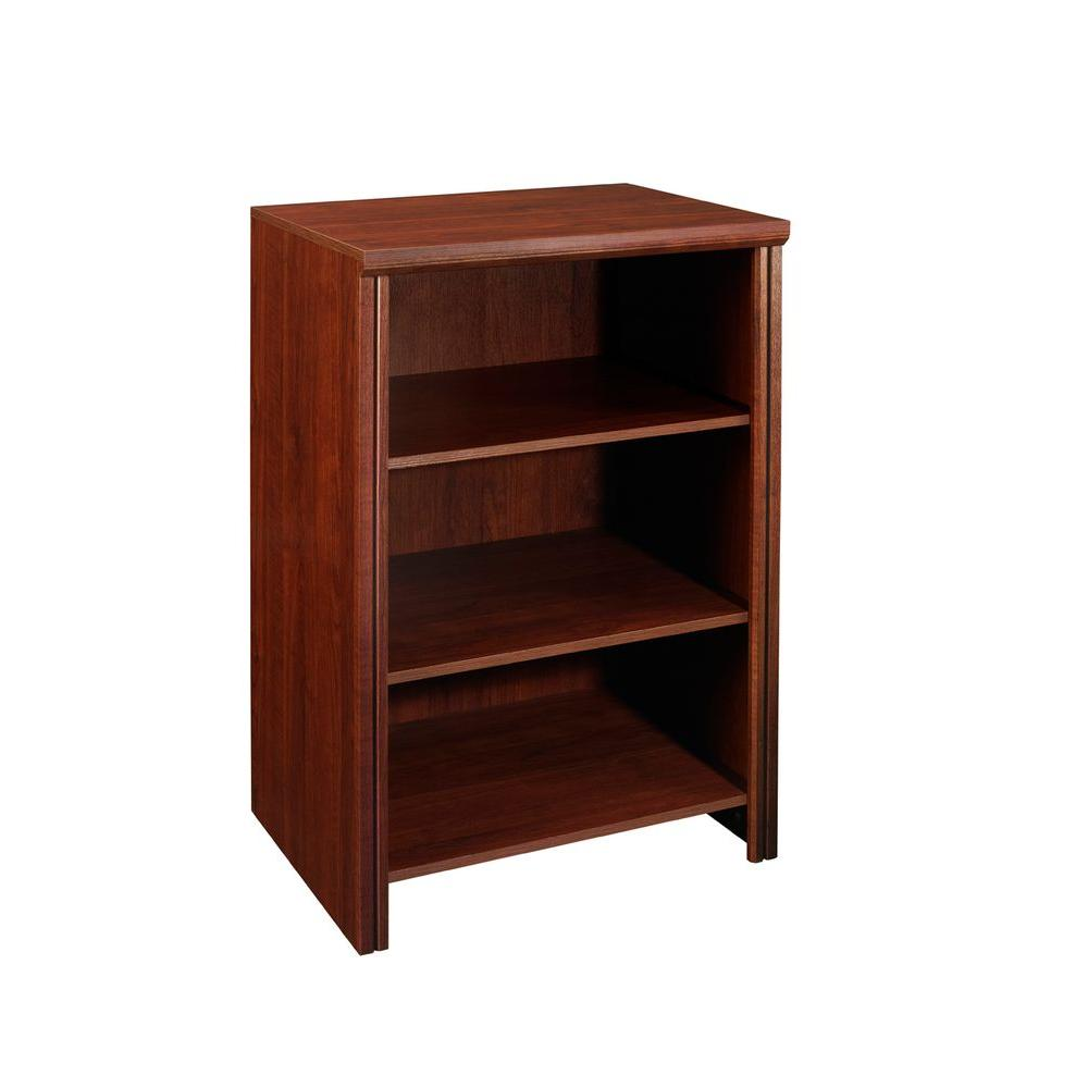 Impressions 19.66 in. x 25 in. Dark Cherry Laminate Deluxe 4-Shelf